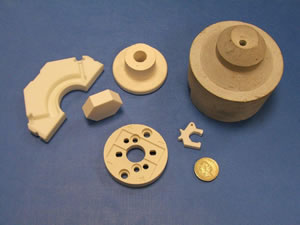 Machined ceramics and parts