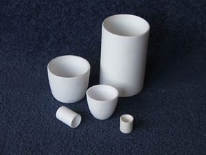 Zirconia and alumina crucibles
