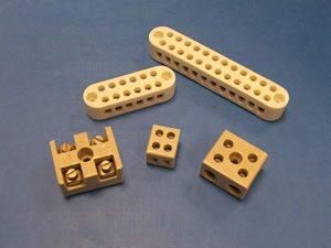 Ceramic electrical connector blocks