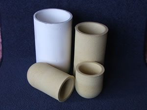 Refractory crucible and metal casting supplies